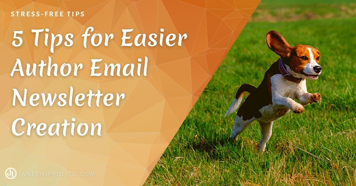 Janeen Ippolito 5 Tips for Easier Author Email Newsletter Creation
